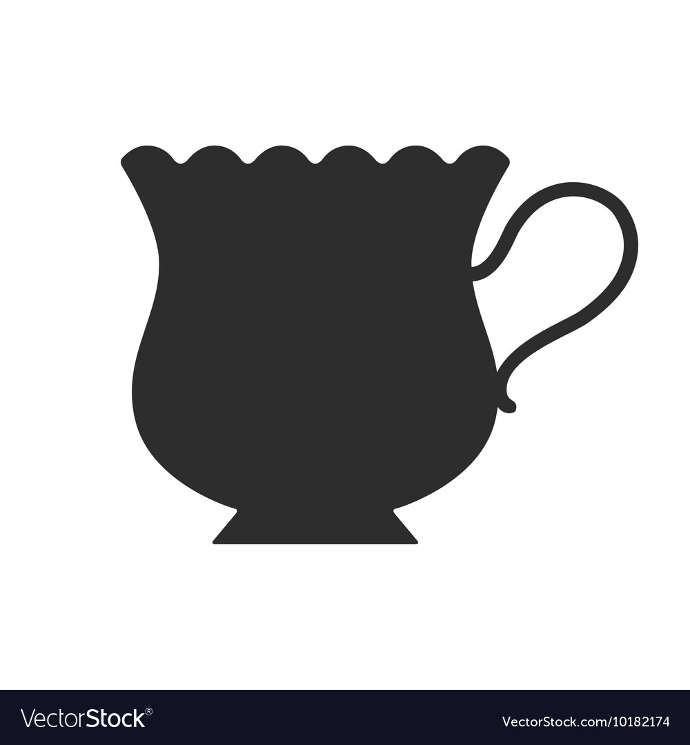 Coffee tea cup Mug for drinks Black silhouette.