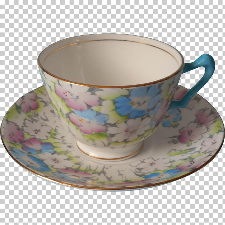 Coffee cup Saucer Porcelain Bone china Teacup, hand painted.