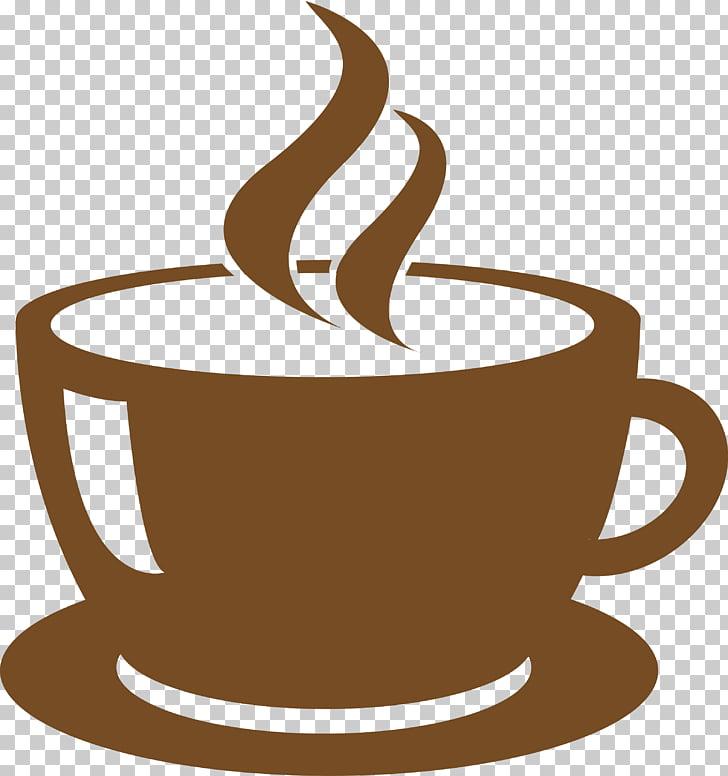 Coffee Tea Cafe Window Decal, Steaming simple coffee.