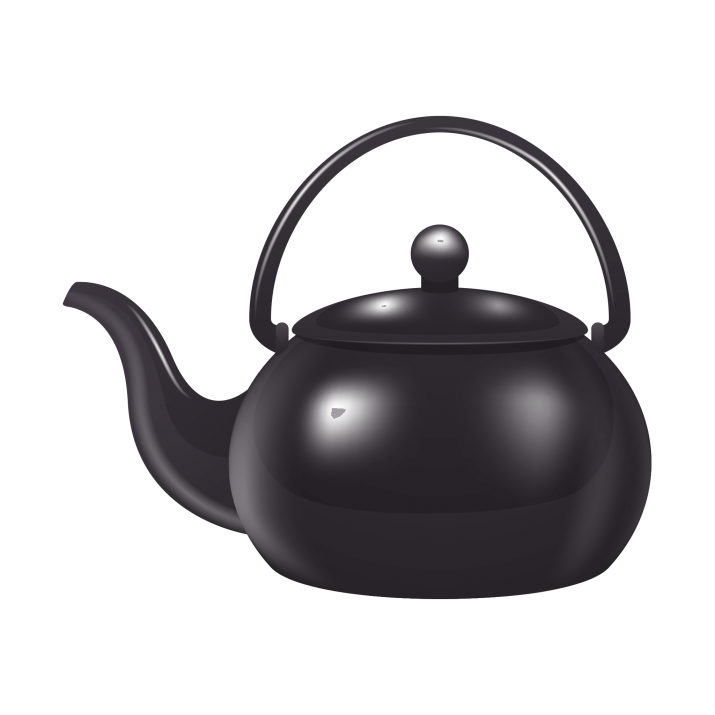Black Tea Pot PNG Image Free Download searchpng.com.