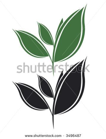 Tea Leaves Clip Art.