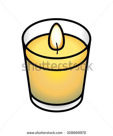 Votive Candle Clip Art.