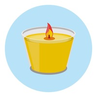 Tealight candle Vector Image.