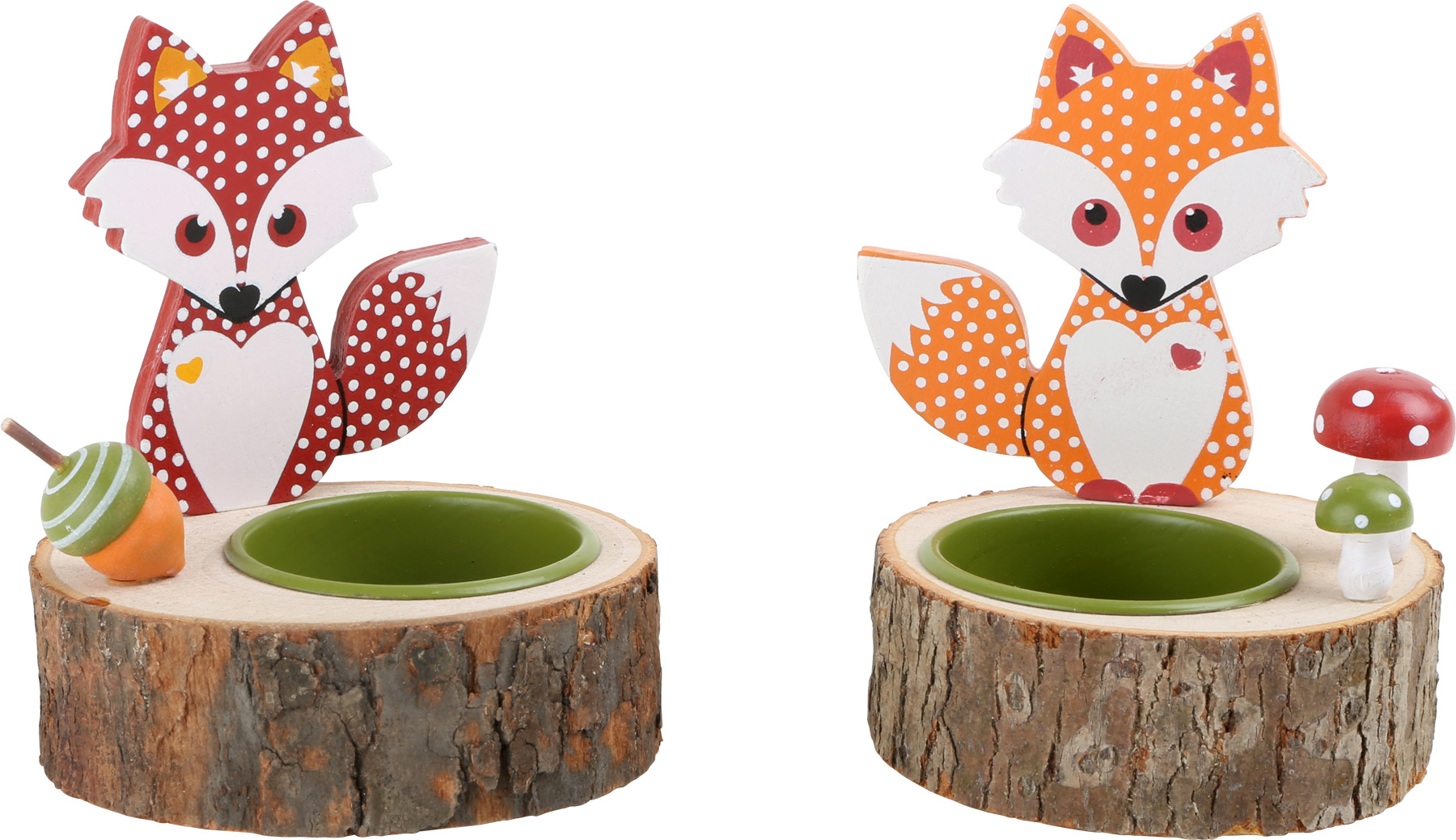 Fox tea light holder.