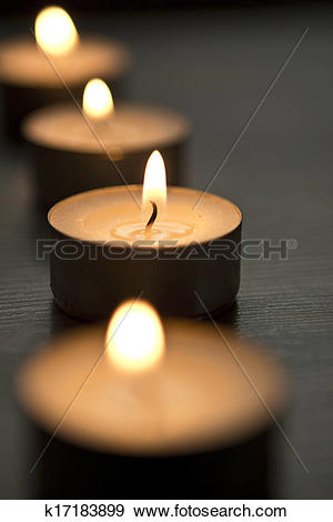 Stock Photograph of tea lights k17183899.