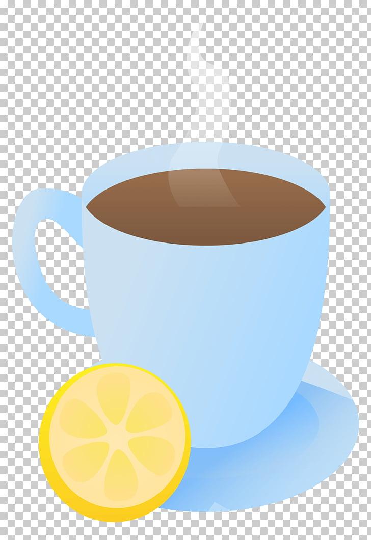 Coffee cup Earl Grey tea Mug, lemon and tea PNG clipart.
