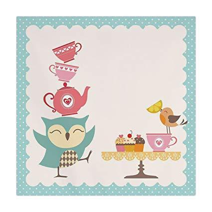 Amazon.com: Polyester Square Tablecloth,Kitchen Decor,Owl at.