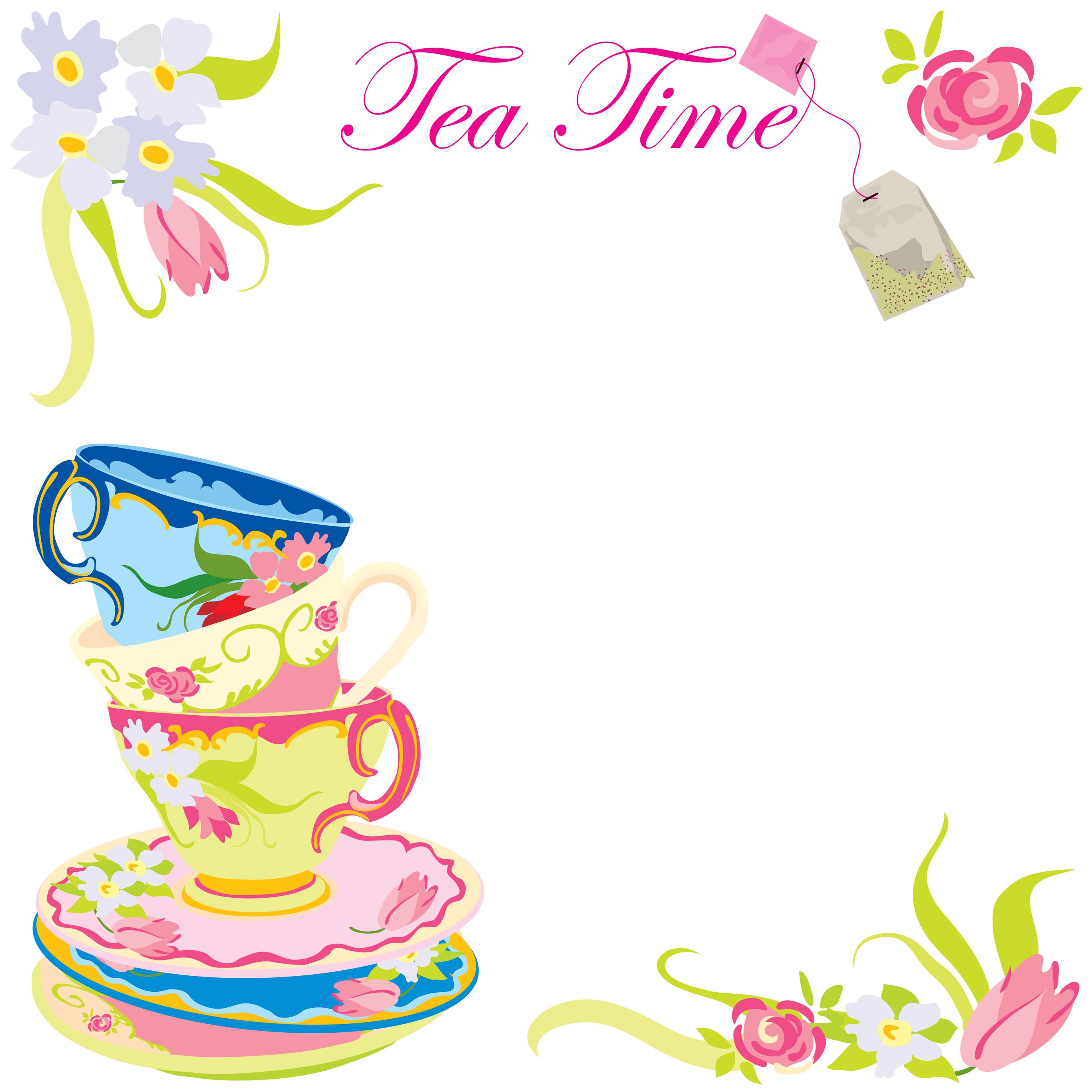 Tea Party Invitation Clipart.