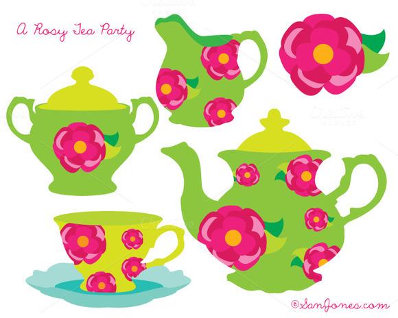 Tea Party Clipart.