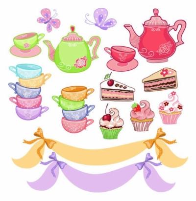 tea party clip art , Free clipart download.