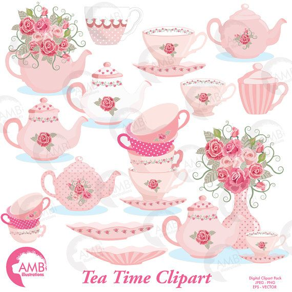 Tea time clipart, Teapot, Tea Party Clipart, Tea pot, tea.