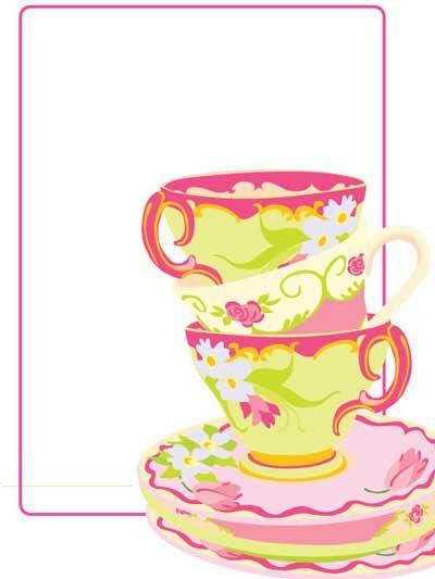 free blank tea party printable.