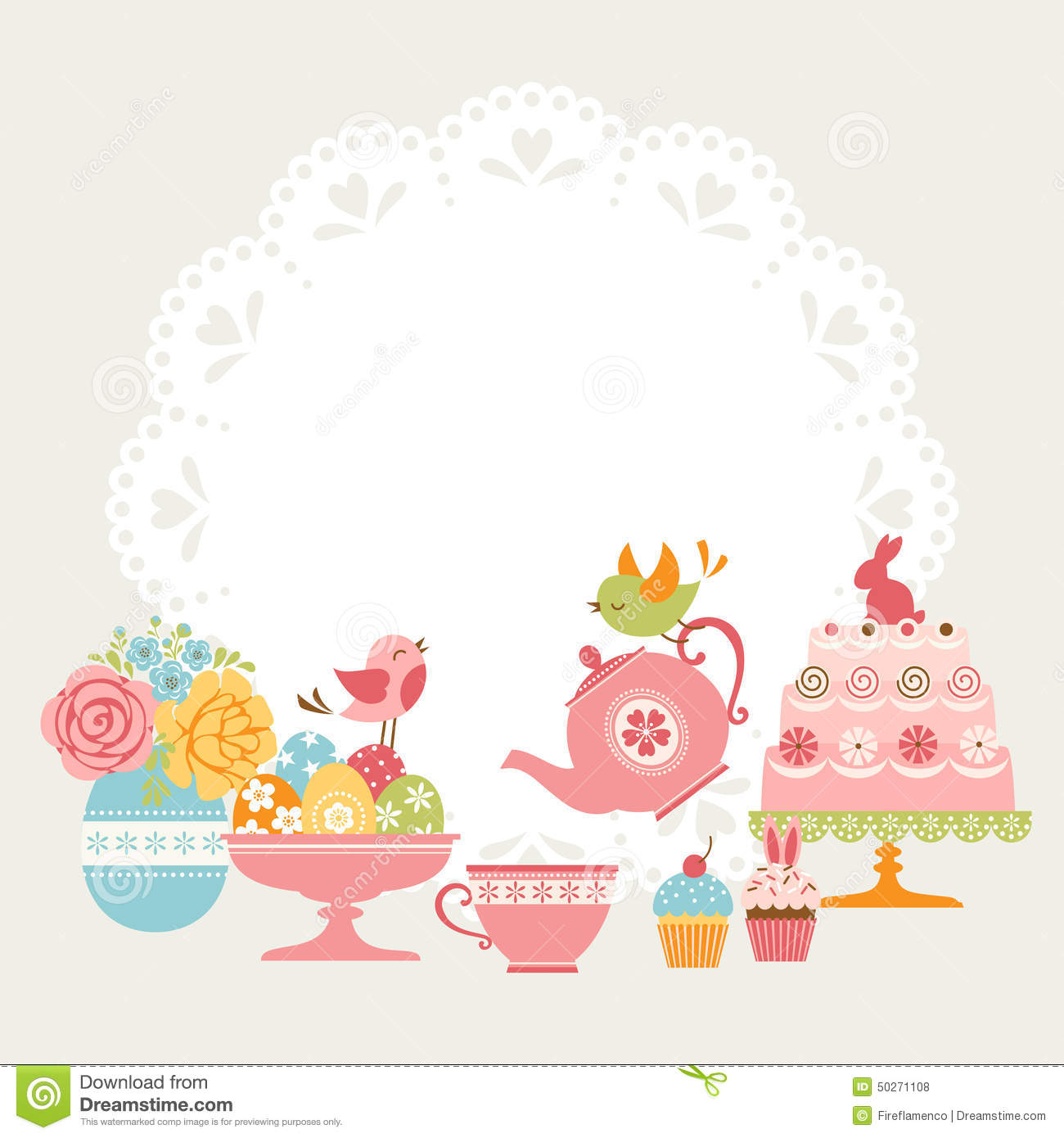 1082 Tea Party free clipart.