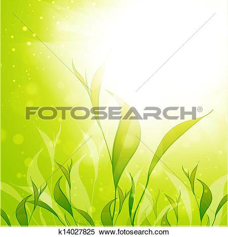 Clipart of Tea Plantation Leaves k14027825.