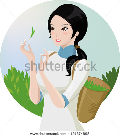 Tea Garden Clipart.