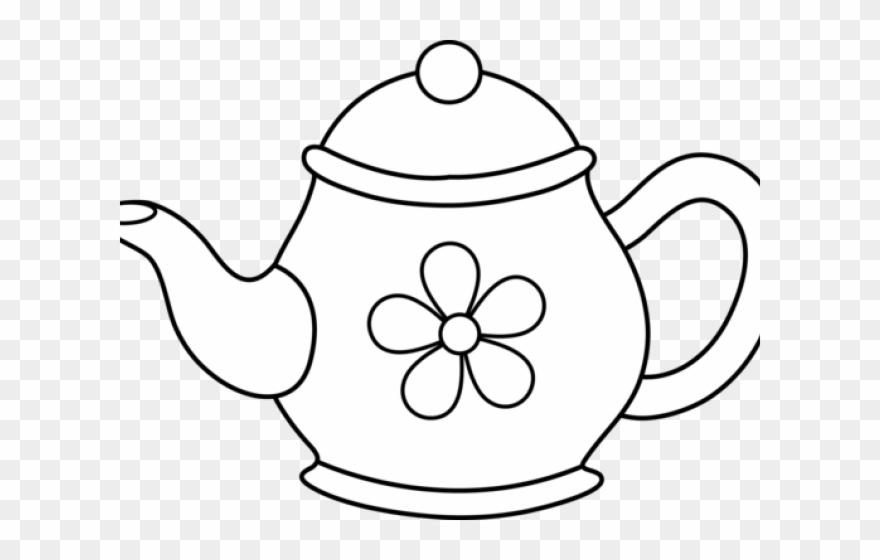 Monochrome Clipart Teapot.