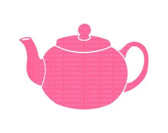 Pink Vintage Teapot Clipart.