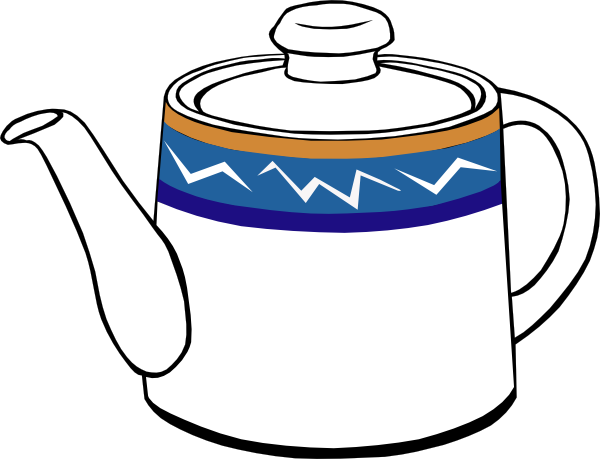 Teapot Clipart Black And White.