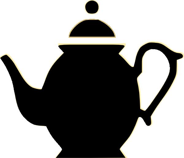 Teapot Clip Art Outline.