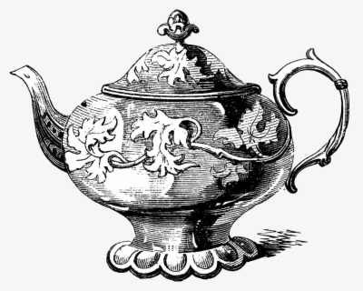 Free Vintage Tea Pot Clip Art with No Background.