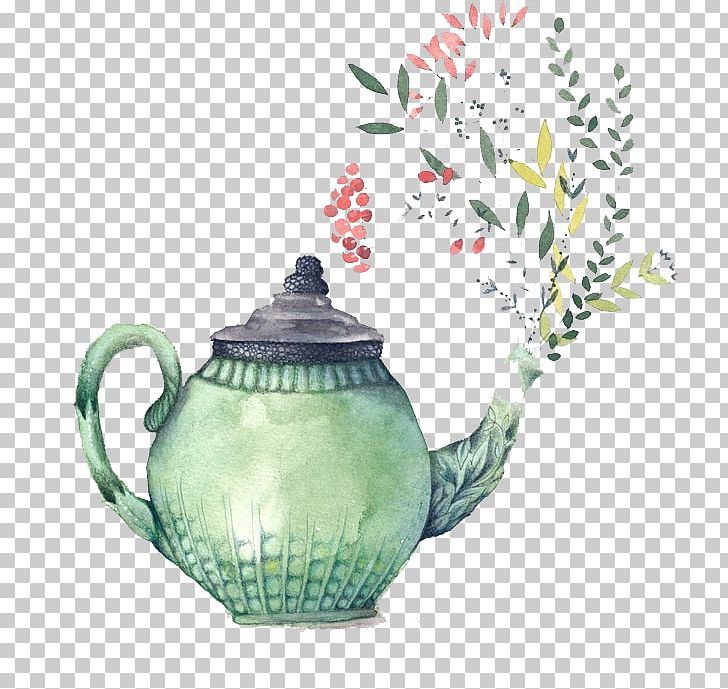 Teapot Watercolor Painting Bridal Shower Teacup PNG, Clipart.