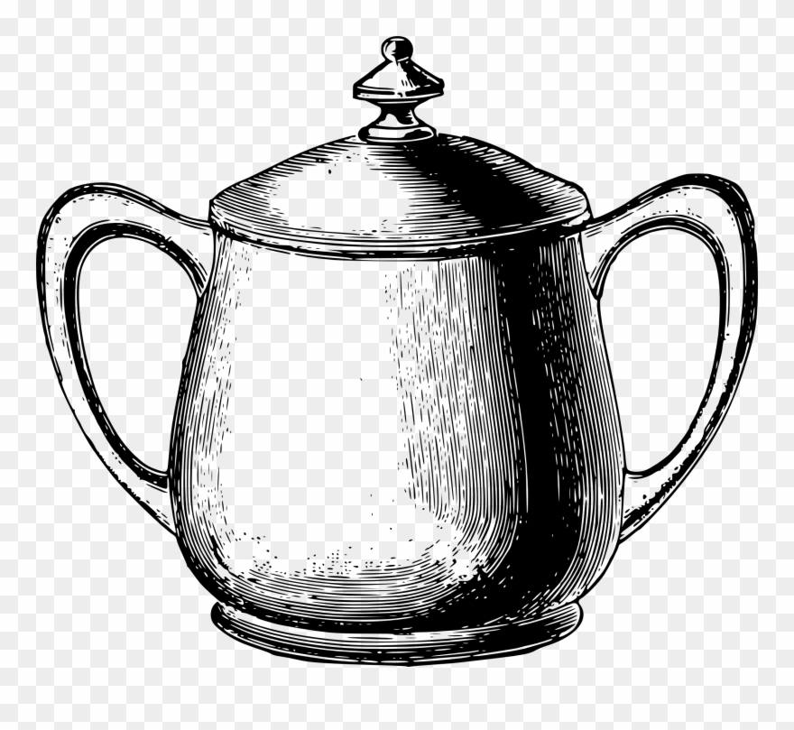 Download Vintage Tea Service Clip Art Sugar.