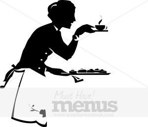Tea Service Clip Art.