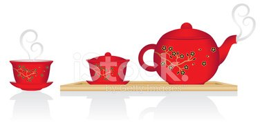 Chinese Tea Service stock vectors.