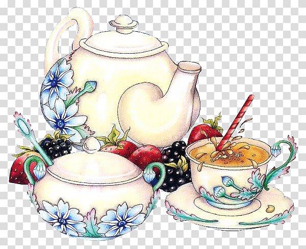 Tea set Service de table , tea transparent background PNG.