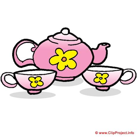 55+ Tea Set Clipart.