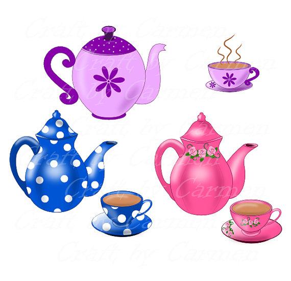 Teapot Clip Art Teapot And Cup Teapot Digital Clipart For.
