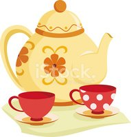 Tea Set stock vectors.