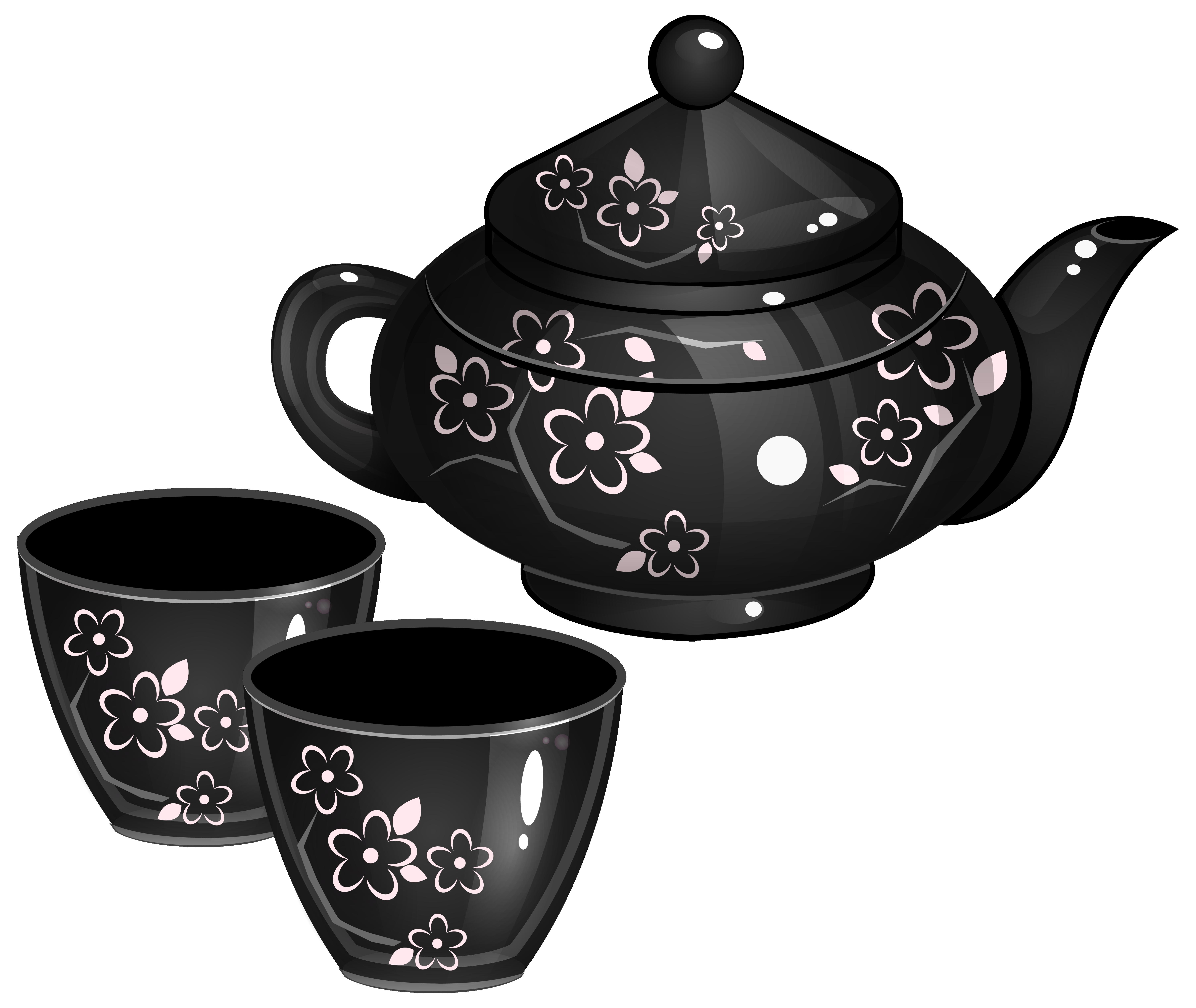 Tea Set PNG Clipart Image.