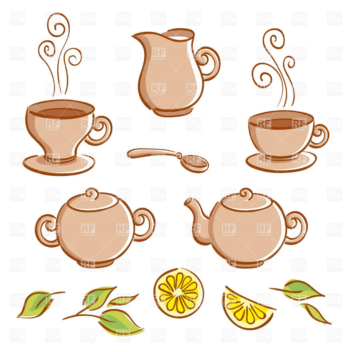 Cartoon tea set.