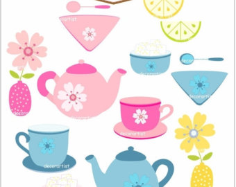 tea set clipart.