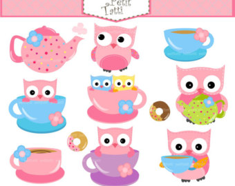 Tea set clip art.