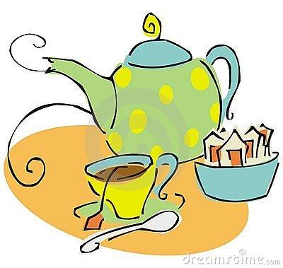 Tea Set Clip Art.