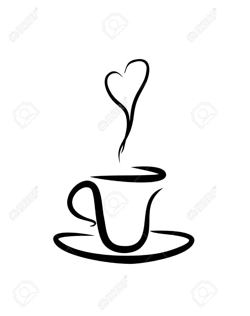 Coffee Smoke Clipart.