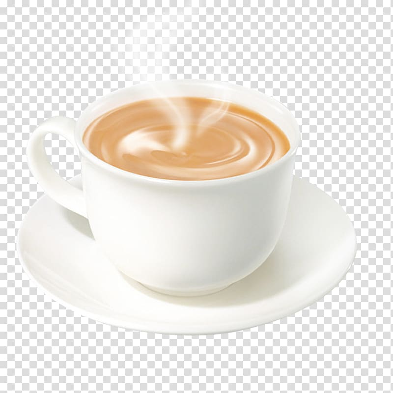 Coffee cup hot milk tea transparent background PNG clipart.