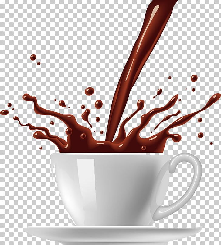 Coffee Cup Tea Hot Chocolate PNG, Clipart, Cappuccino.