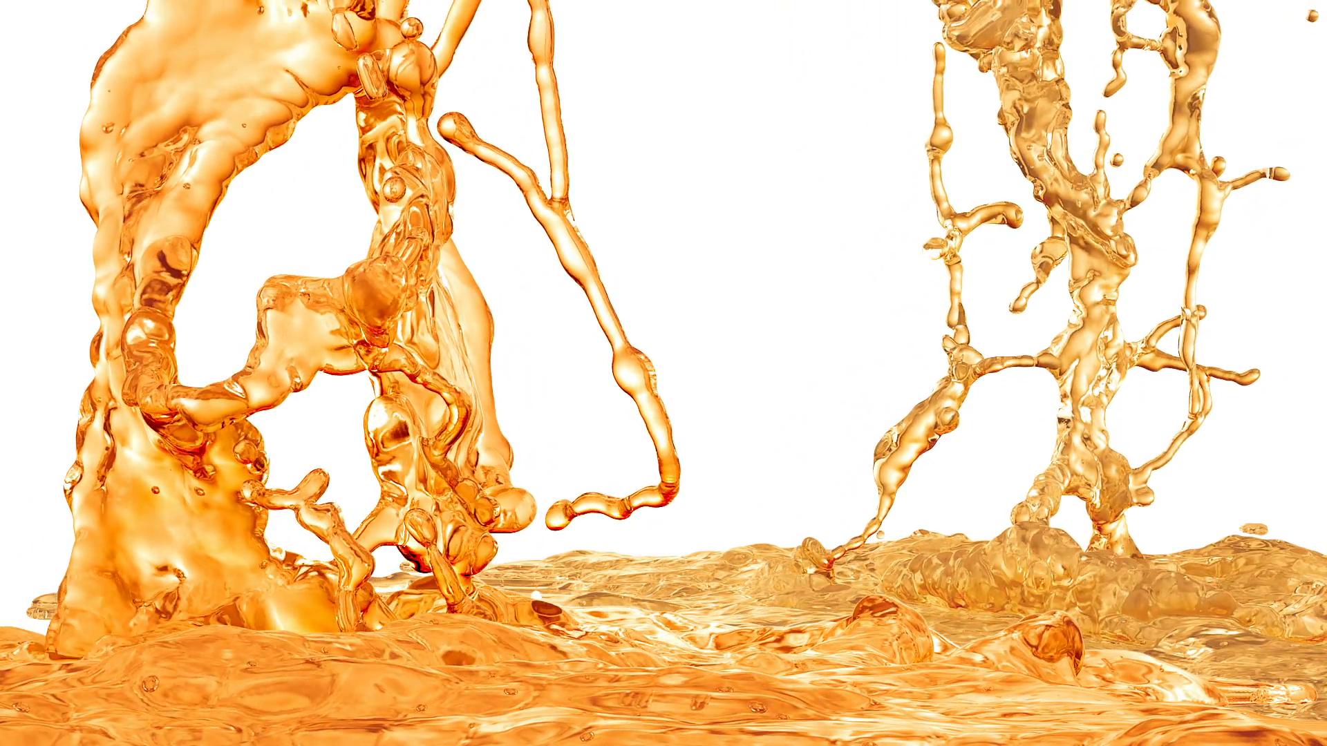 Tea Splash. Super Slow motion,with mask. Motion Background.