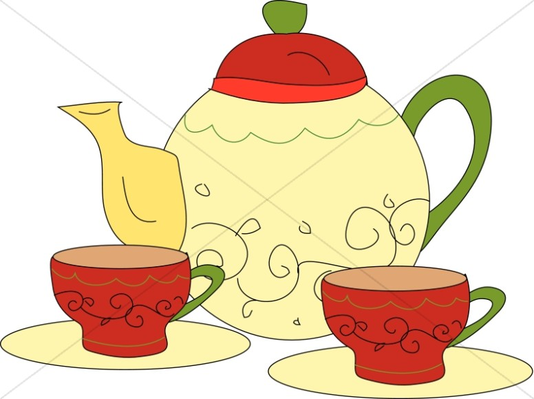 Tea Time Clipart, Church Tea Time Images.