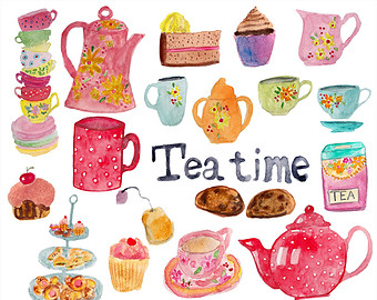 Tea time clipart.