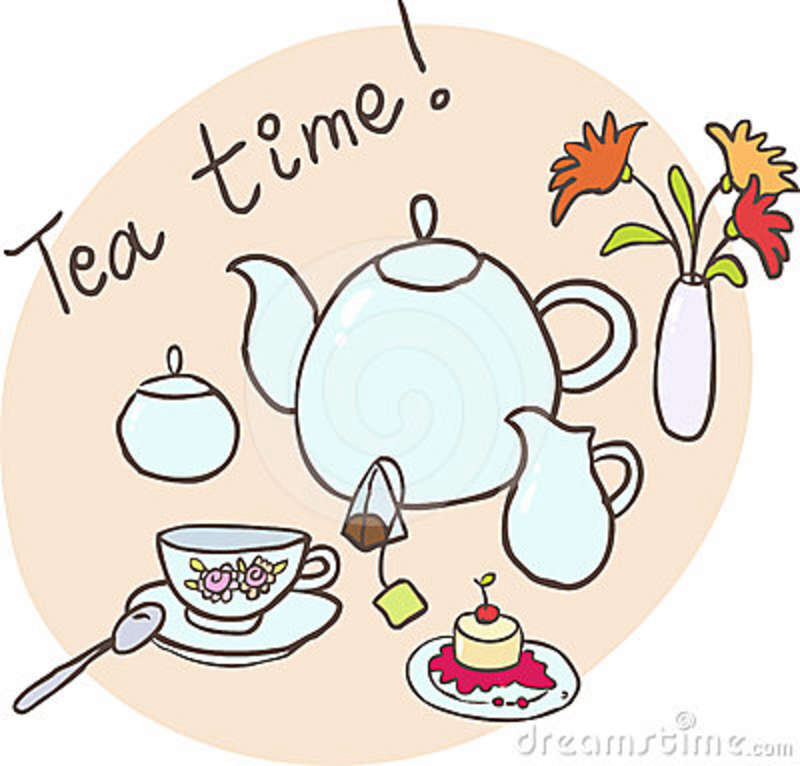 Tea Time Clipart.