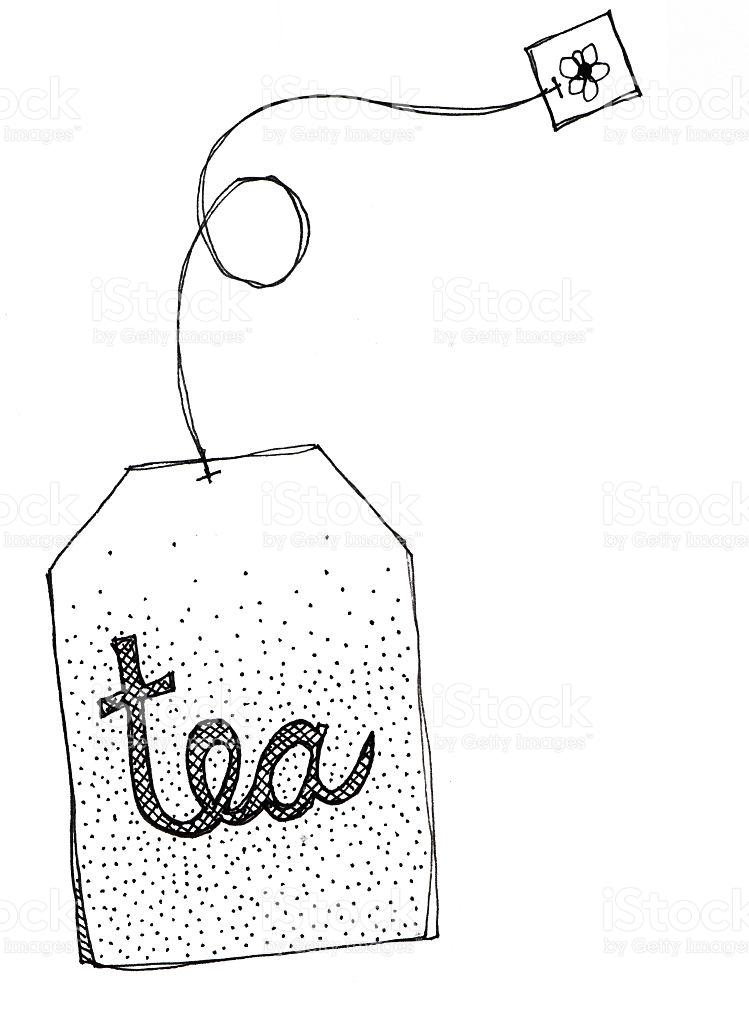 Tea bag outline clipart.