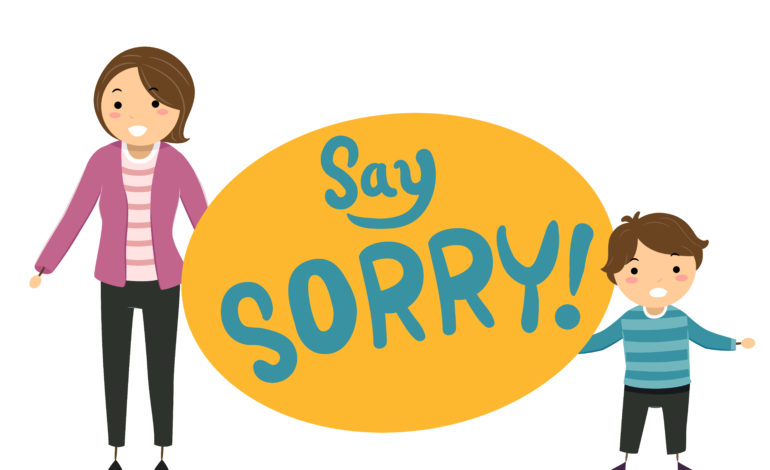 Teach children to say sorry in a meaningful way.