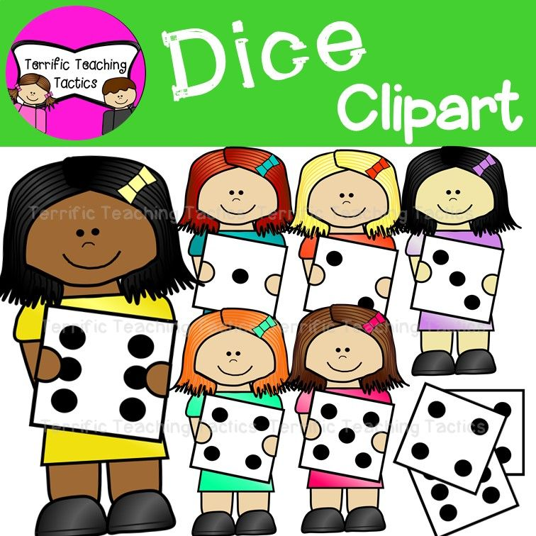 Kids With Dice Math Clip Art.