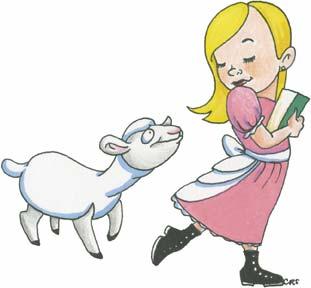 Mary Had A Little Lamb Clipart.