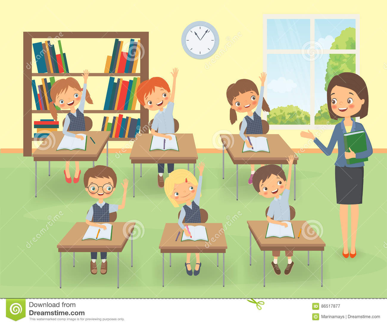 Teacher and pupils clipart 5 » Clipart Station.