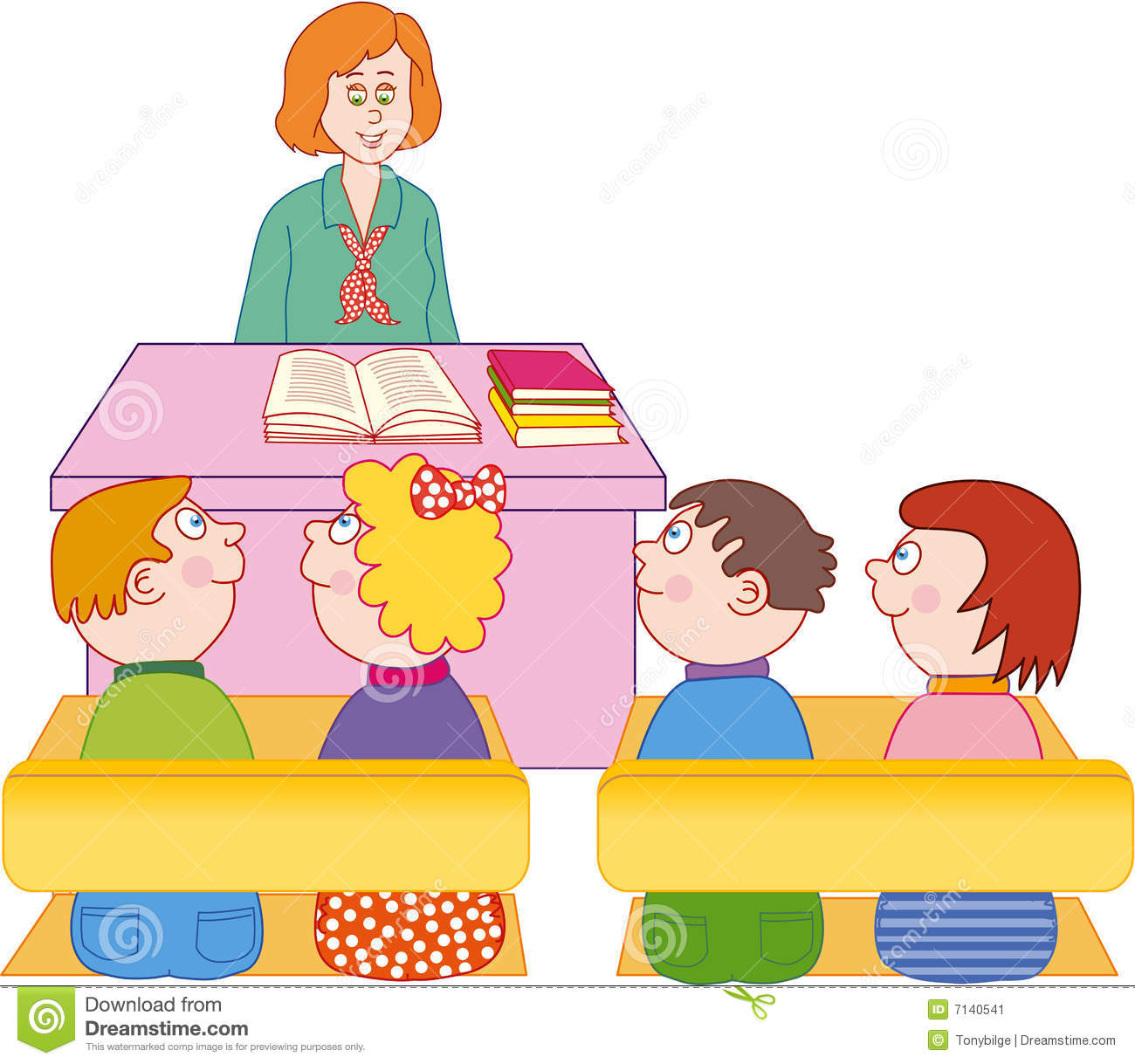 62+ Teacher And Students Clipart.
